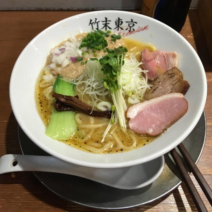 2019年1月4日に食べた竹末東京Premiumの鶏ホタテそば