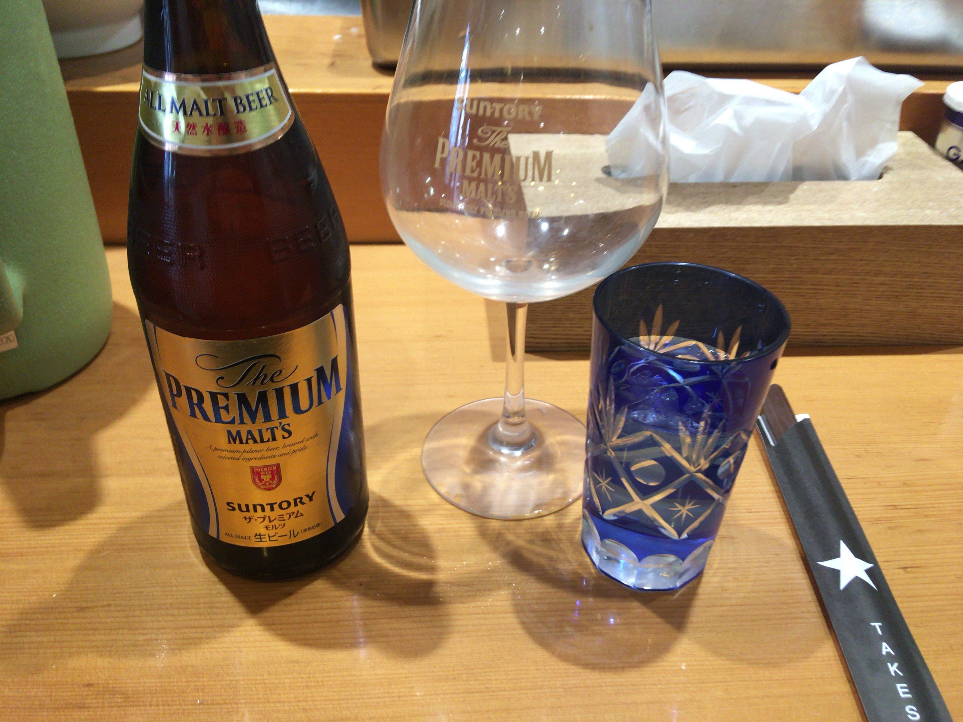 竹末東京Premiumのビールはプレミアムモルツ600円