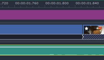 Movavi Video Editorは、ミリ単位秒で編集可能