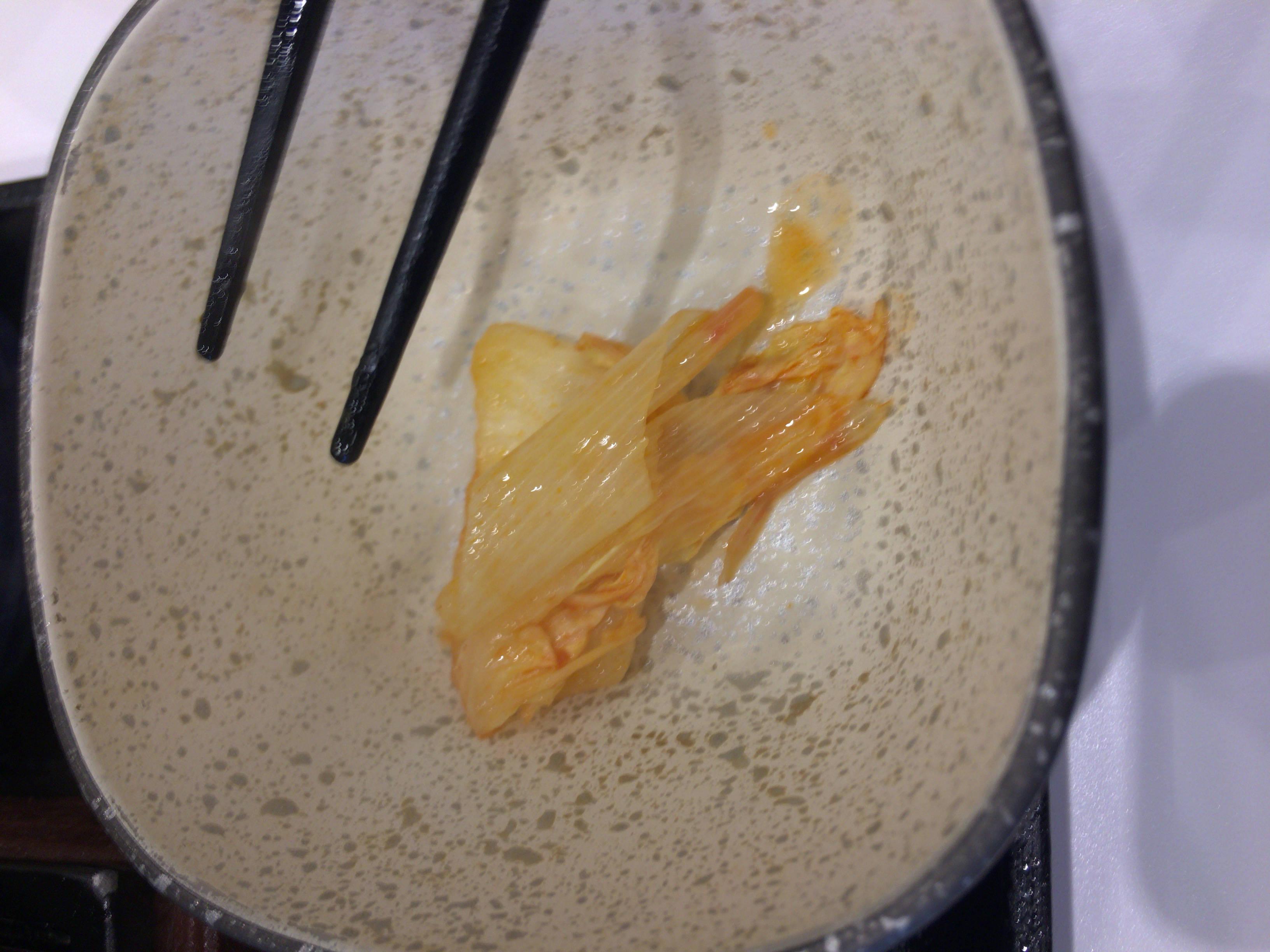 牛チゲ鍋膳のネギ