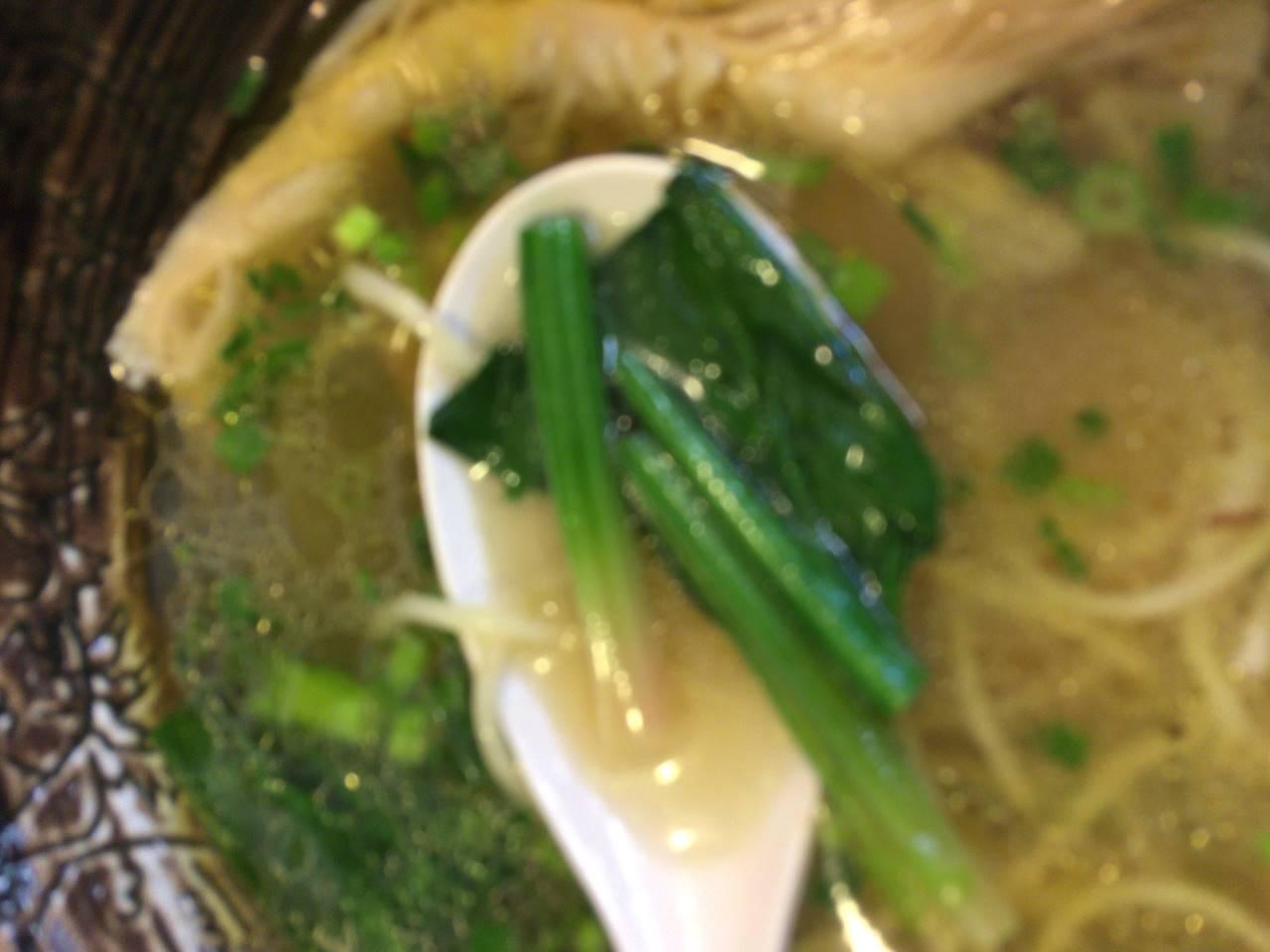 茎っぽい野菜(麺屋太陽)