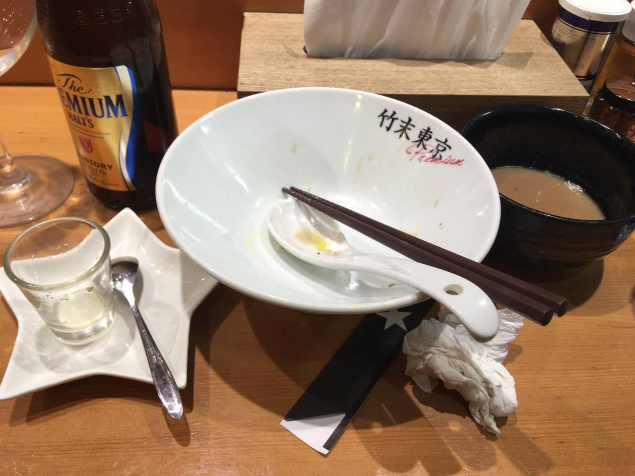 限定麺 ホタルイカと牡蠣の細つけそば|竹末東京プレミアム