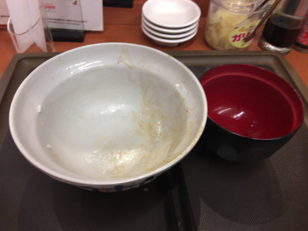 食べ終えた図:えびえび桜海老天丼 | 期間限定 天丼てんや