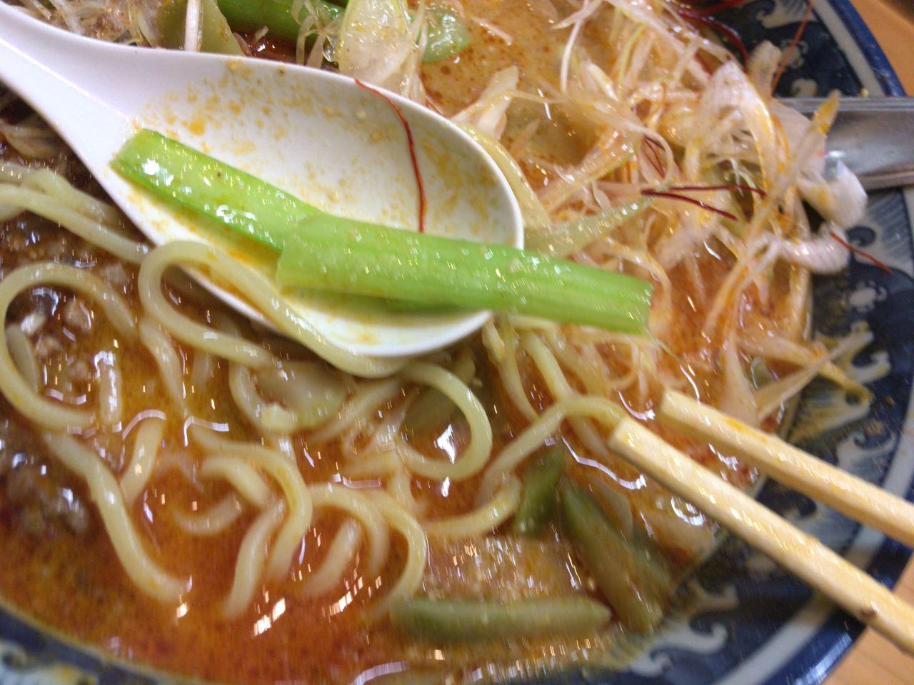 小松菜:四川担々麺900円ラーメンソレナリ