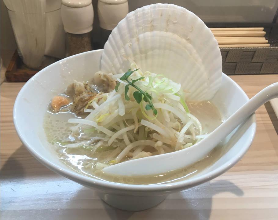 真鯛白湯 鯛とホタテ1200円