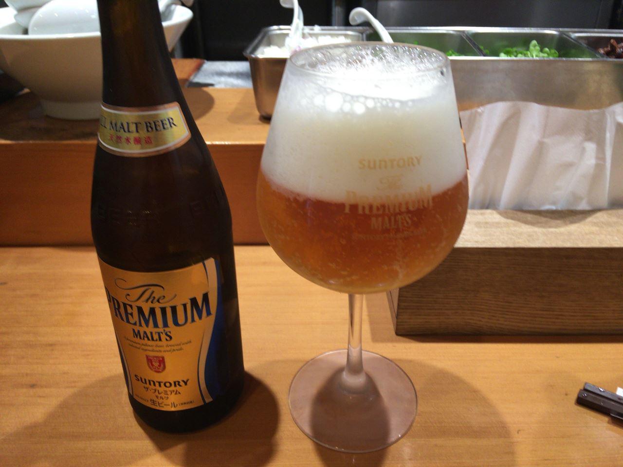 竹末東京プレミアム のビールはプレミアムモルツ600円