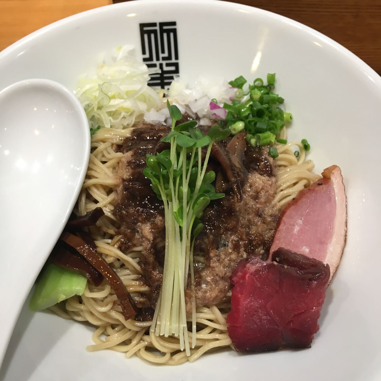 竹末東京プレミアムのサンマとイカのまぜそば細麺版