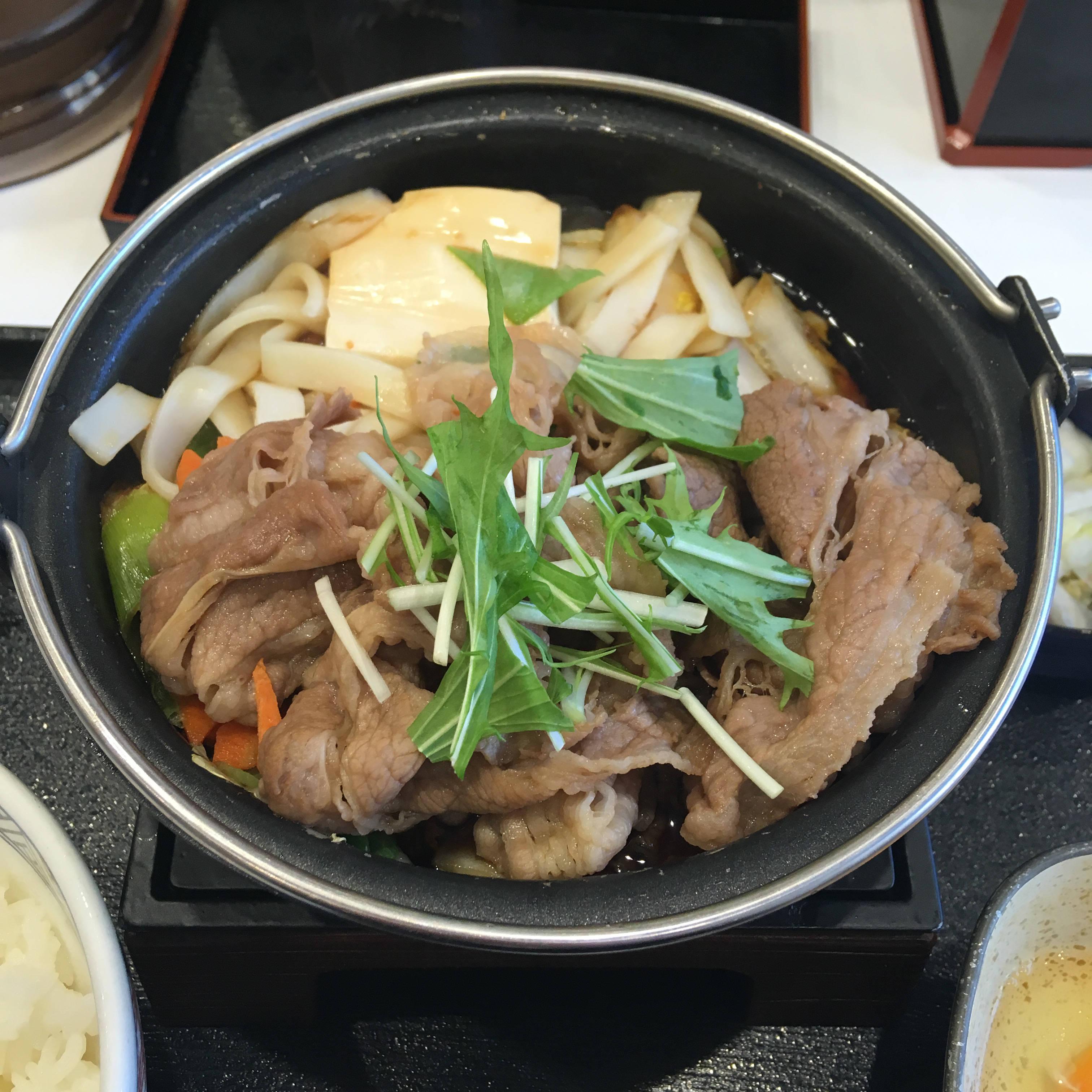 吉野家のすき鍋膳並 2019年3月5日