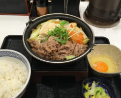 2019年01月19日に食べた牛すき鍋膳の写真