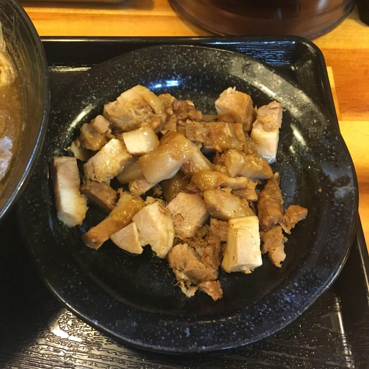 くずチャーシュー100円|京成曳舟駅近く 麺屋 頂 中川會