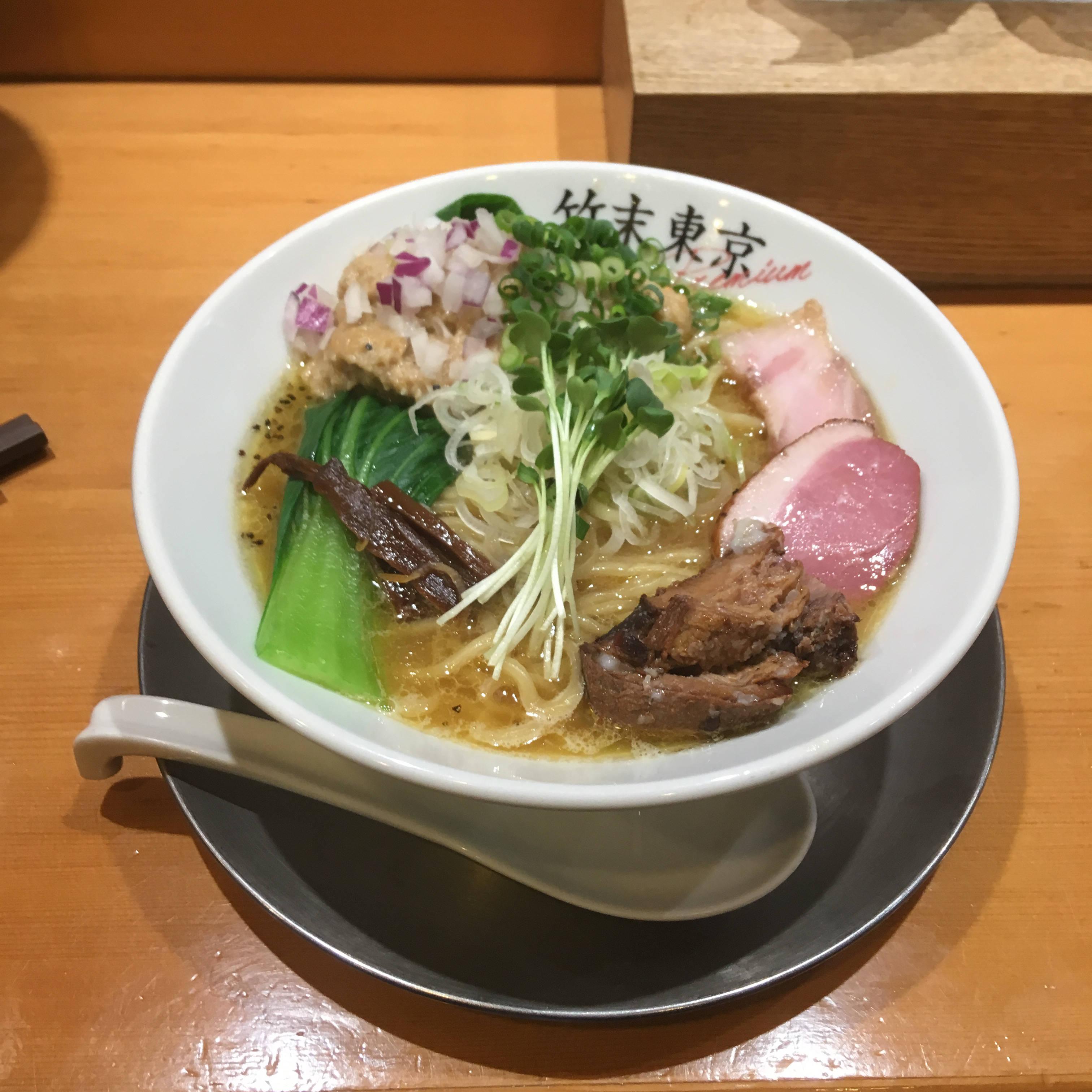 鶏ホタテそば900円 ホタテペーストどっさり 竹末東京プレミアム