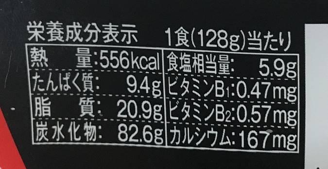 栄養成分表示:日清焼そばU.F.O.  |日清食品