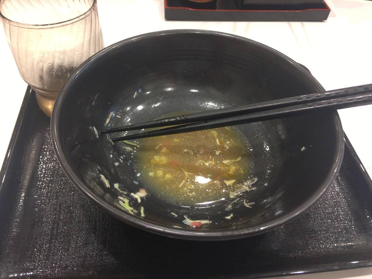 食べ終えた丼:ライザップ牛サラダ 単品
