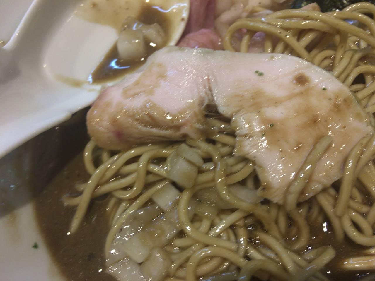 鶏肉:亀戸煮干中華蕎麦つきひ