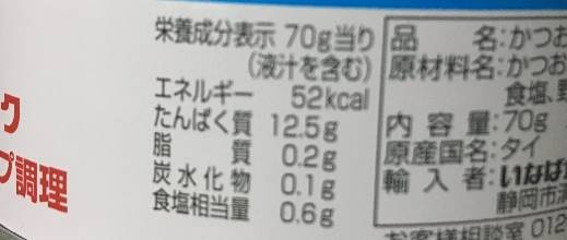 ツナ缶 たんぱく質12.5g