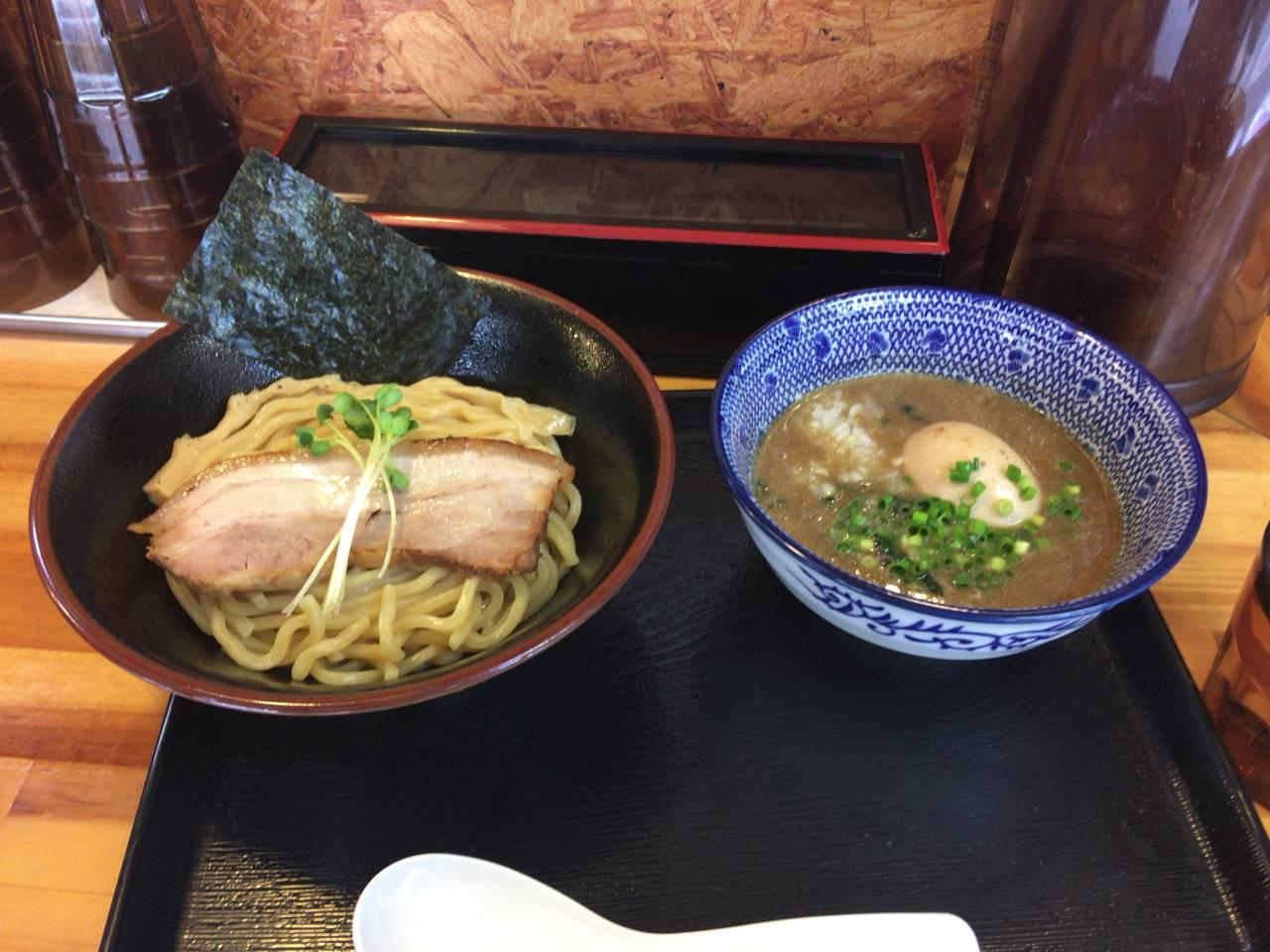 濃厚魚介鶏つけ麺に味玉追加 麺屋頂中川會