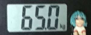 2019年06月21日の体重65.0kg
