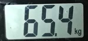 2019年06月25日の体重65.4kg