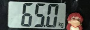 2019年06月27日の体重65.0kg