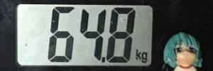 2019年06月28日の体重64.8kg
