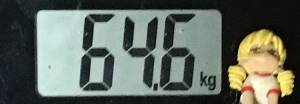 2019年06月29日の体重64.6kg