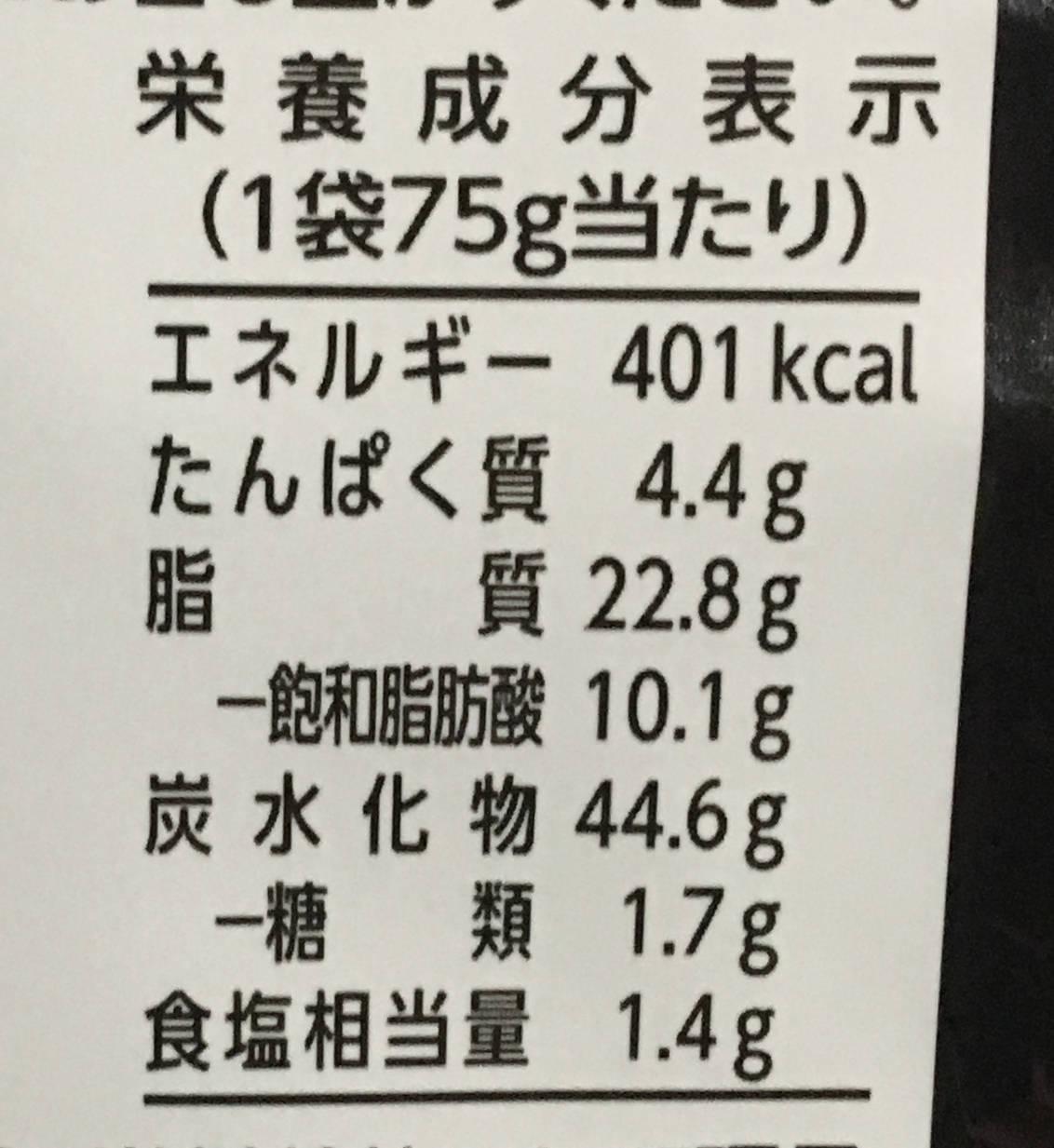 栄養成分表示:いきなり!ステーキ コーンスナック ワイルドハンバーグ味