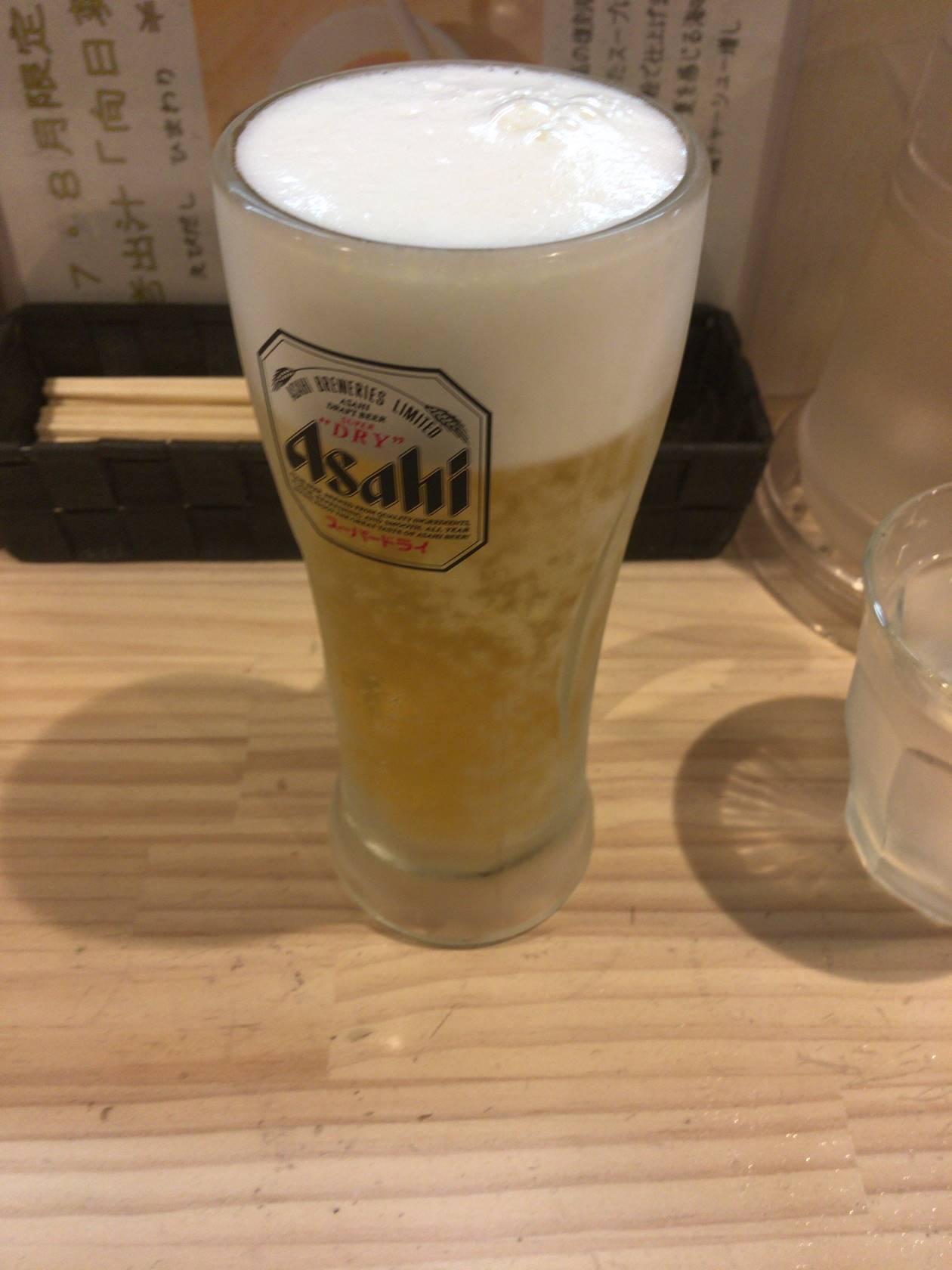 吉法師のビール500円