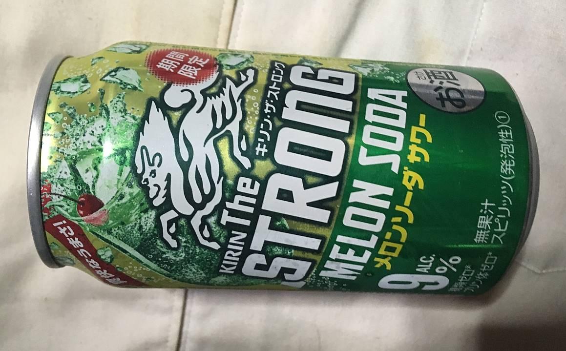 缶のデザイン:キリン・ザ・ストロング メロンソーダサワー(期間限定)