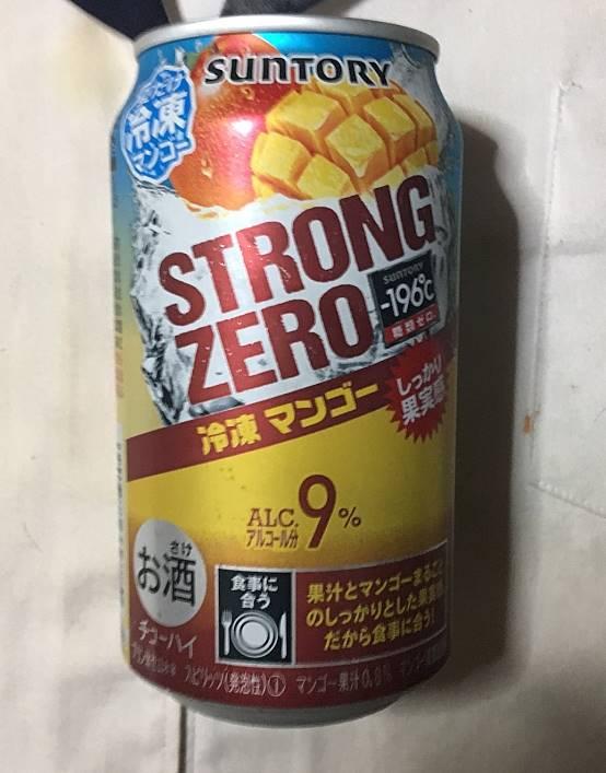 缶のデザイン:サントリー STRONG ZERO 冷凍マンゴー