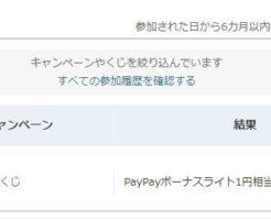Yahoo!ズハトクでPayPayボーナスライトが付与された状態