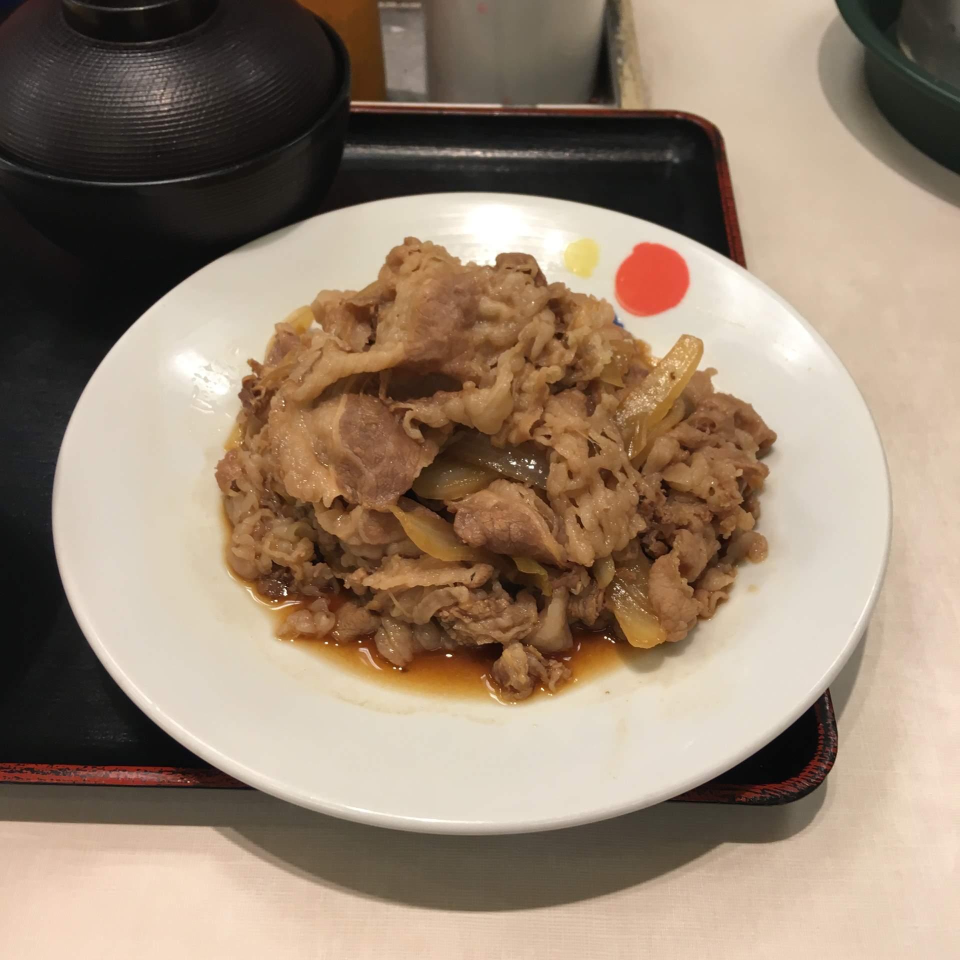 牛皿という感じ:「お肉どっさりグルメセット」930円 松屋