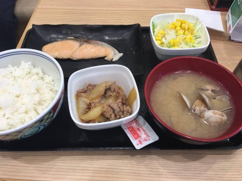 全体図:焼魚牛小鉢定食|吉野家