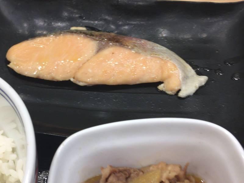 鮭:焼魚牛小鉢定食|吉野家