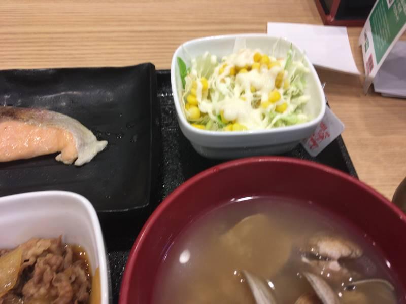 サラダなど:焼魚牛小鉢定食|吉野家