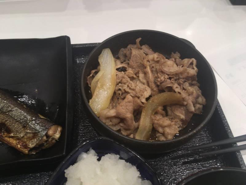 牛皿:さんま炭火焼き牛定食 |吉野家