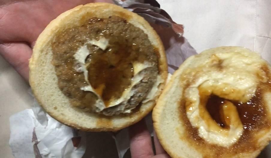 中の状態:ローソン てりやきハンバーガー