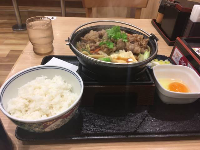 牛すき鍋膳並(ご飯有り)
