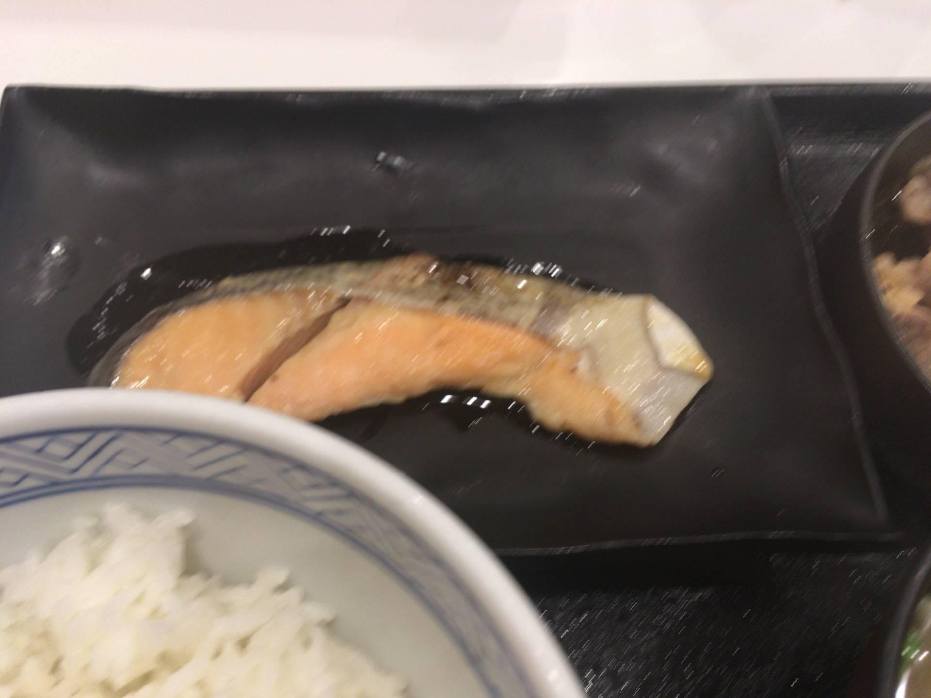 吉野家の牛鮭定食の鮭