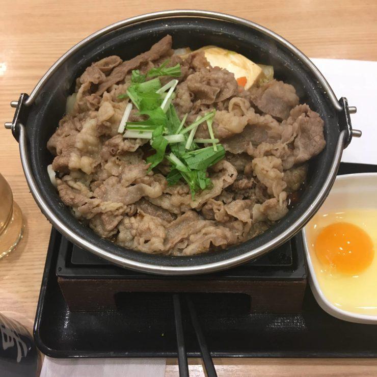 2019年度版吉野家の鍋膳 6回目 牛すき鍋膳単品大盛