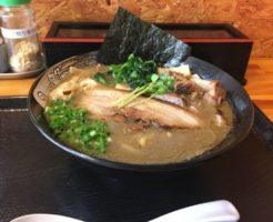 全体図:濃厚魚介鶏らーめんと、屑チャーシュー130円 |麺屋 頂 中川會