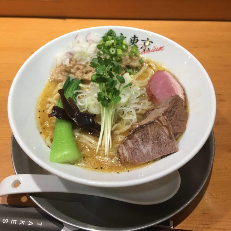 竹末東京プレミアムで鶏ホタテそば