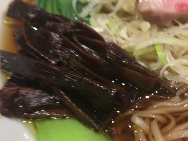 増しにしたメンマ:醤油そば+ネギ増し+メンマ増し|竹末東京プレミアム