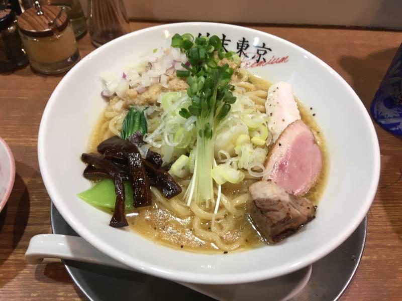 竹末東京プレミアムの鶏ホタテそば 1050円