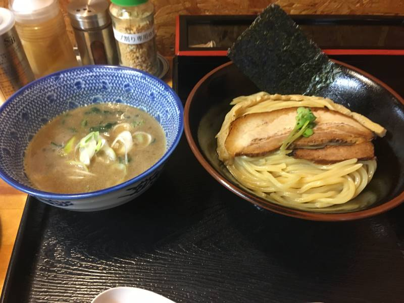 つけ麺はスープの甘味が強かった|麺屋頂中川會 京成曳舟駅近く