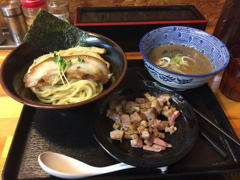 麺屋頂中川會のつけ麺とくずチャーシュー