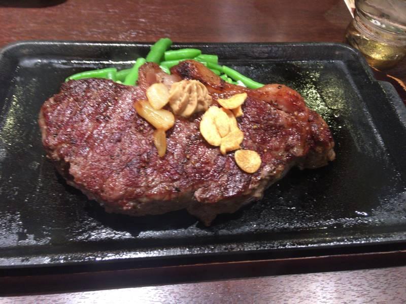 いきなり!ステーキ墨田太平店で食べた「本格熟成国産牛サーロインステーキ」