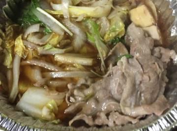 牛すき焼きうどん鍋