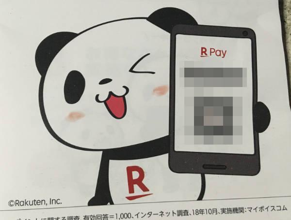 楽天ペイ キャラクターのパンダ