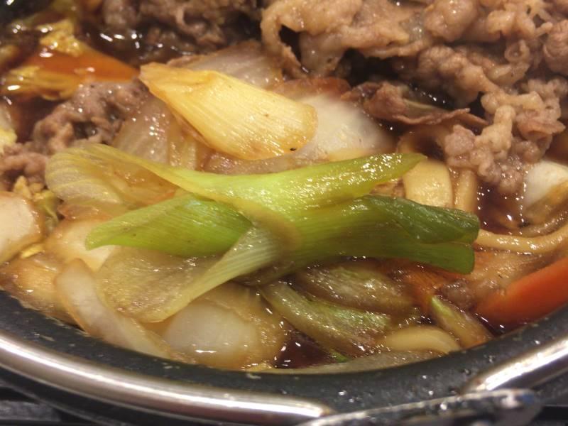 野菜細かいのが多い気がする 牛すき鍋膳単品大盛|吉野家