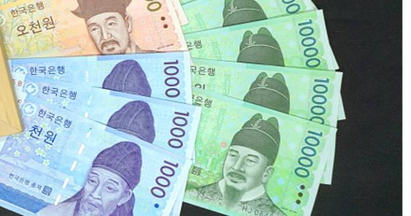 韓国ウォン紙幣